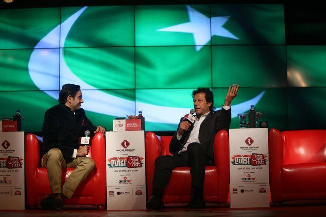 Rahul Kanwal and Imran Khan
