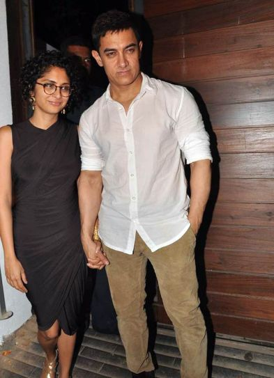 Aamir Khan with wife Kiran