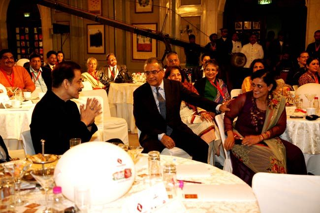 Subrata Roy, Aroon Purie and Kalli Purie