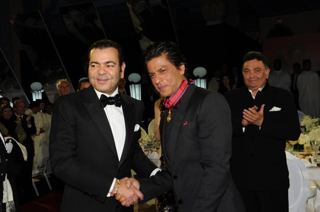 Morocco's Prince Moulay Rachid (left) with SRK