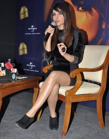 Priyanka Chopra in an event to promote her single 'In My City'