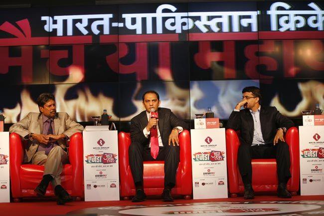 Kapil Dev, Mohd. Azhar, and Sourav Ganguly