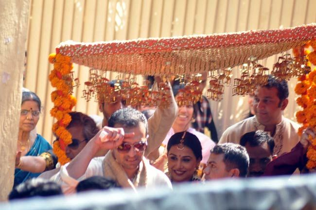 Vidya Balan in her wedding attire.