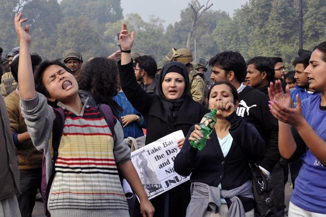 Anti-Gangrape demonstrators