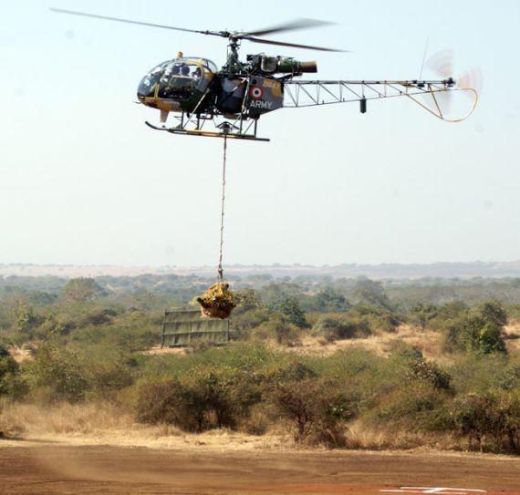Cheetah helicopter, Aerospatiale Alouette II, Exercise Topchi
