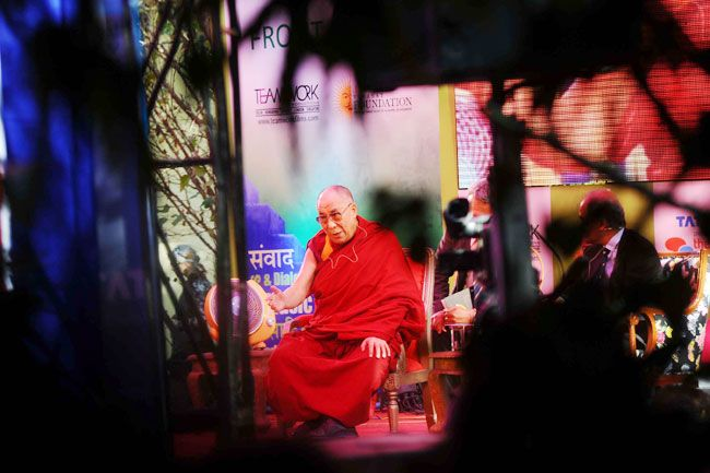 India is our guru and we are your chelas, says the Dalai Lama at the Jaipur Lit fest.