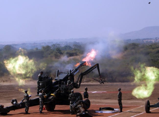 155 mm Field Howitzer 77B, Bofors gun, Exercise Topchi, Indian Army, Artillery