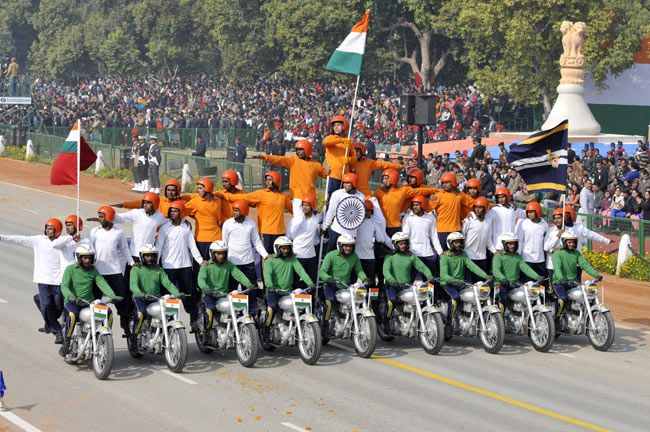 Tornado Bikers, Indian Army, Republic Day final full dress rehearsal