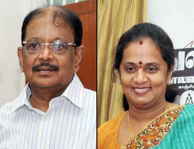 Selvi (right) with her husband Selvam