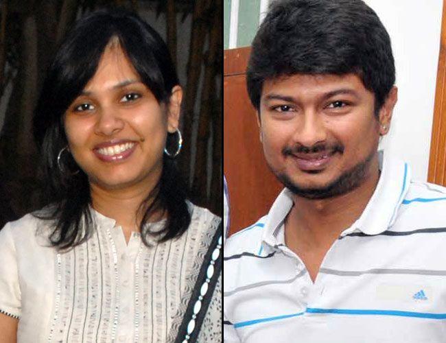 Udayanidhi (right) with his sister Senthamarai