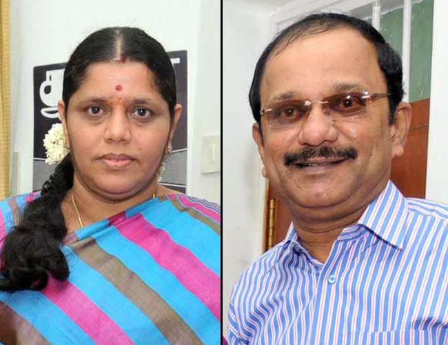 Thamizharasu (right) with his wife Mohana