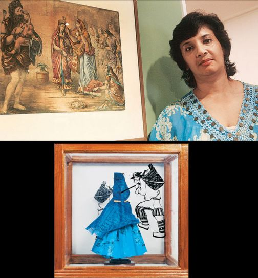Artist Paula Sengupta at the India Art Fair 2013