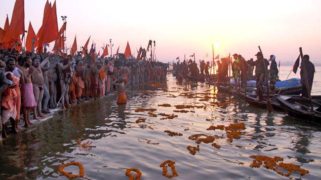 naga sadhus, mahakumbh, sangam, holy dip