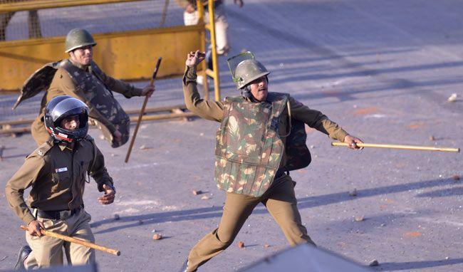 Policemen lathicharge Mangolpuri rape protesters