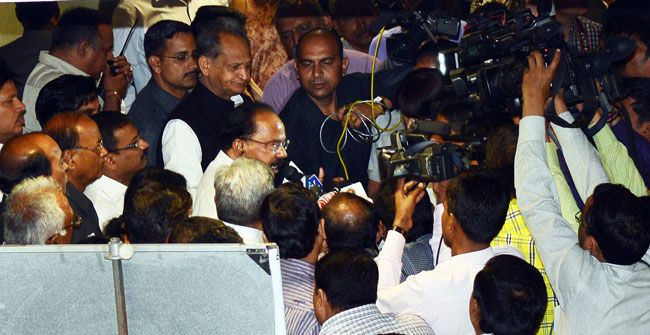 Veerappa Moily with Ashok Gehlot