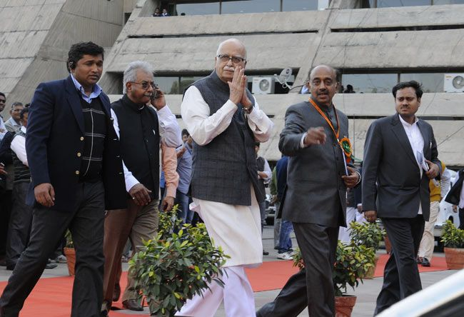 L. K. Advani, Vijay Goel, BJP National Executive Meeting, New Delhi