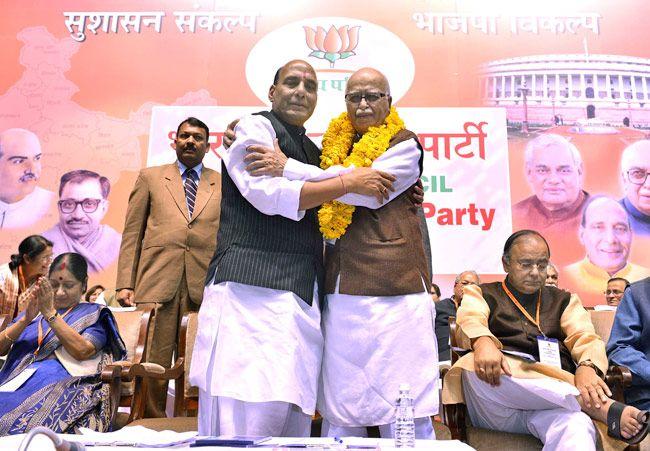 Rajnath Singh and LK Advani