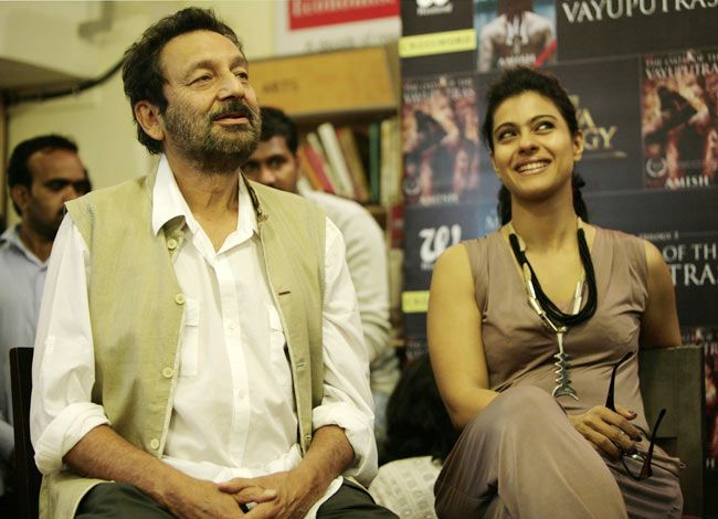 Shekhar Kapoor, Kajol, Crosswords book store, Mumbai Amish Tripathi, The Oath of the Vayuputras launch