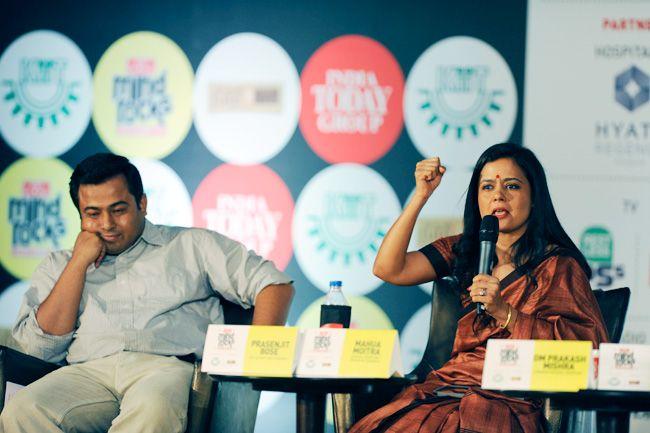 (From Left) Prasenjit Bose and Mahua Moitra at Mind Rocks 2013