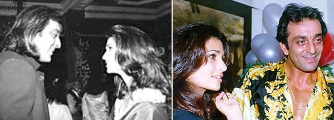 Sanjay Dutt with Rhea Pillai