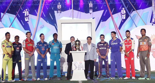 The nine captains of IPL teams