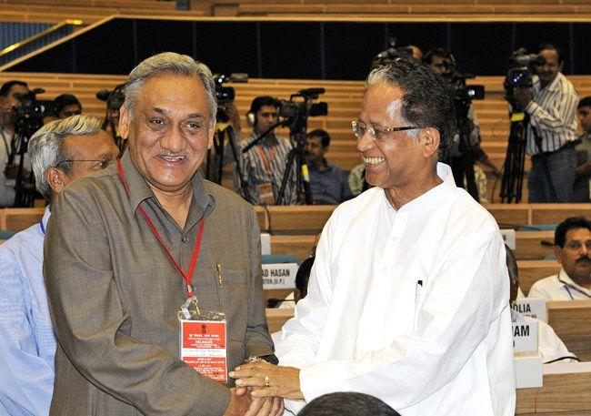Vijay Bahuguna and Tarun Gogoi