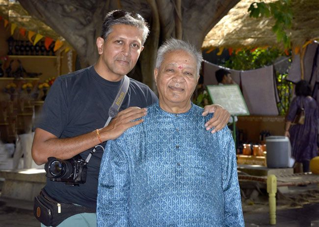 Pandit Hariprasad Chaurasia with son