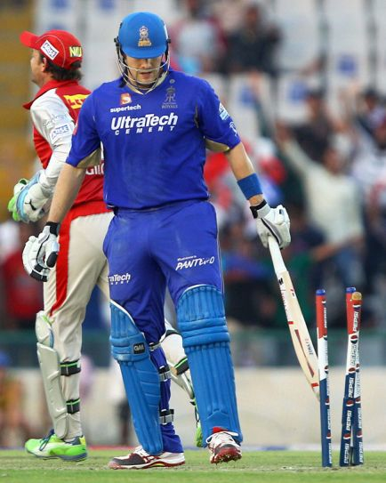From left: Adam Gilchrist and Shane Watson