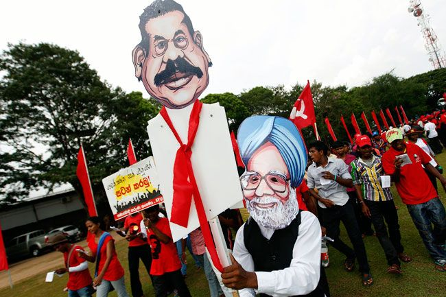 May Day protest in Colombo