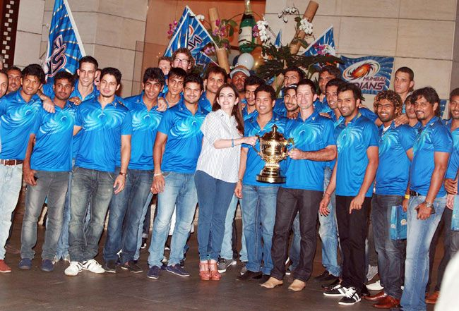 Mumbai Indians victory celebrations
