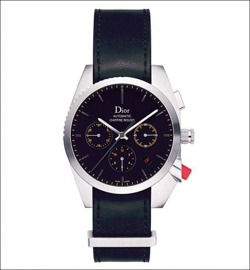 Chiffre Rouge leather strap wristwatch