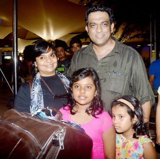 Anurag Basu with family
