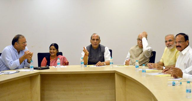 Sushma Swaraj, Rajnath Singh and LK Advani