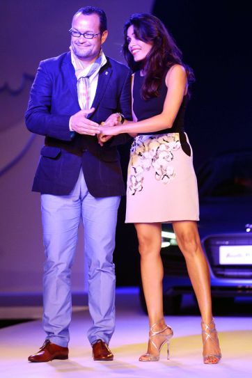 Varun Bahul with Freida Pinto