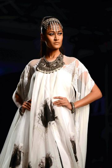 Model in Masaba Gupta's Satya Paul couture collection
