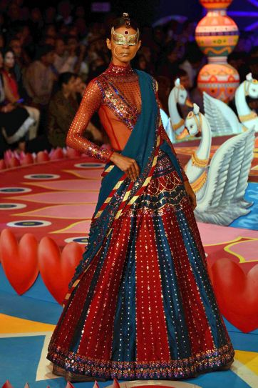 Model in Manish Arora's outfit