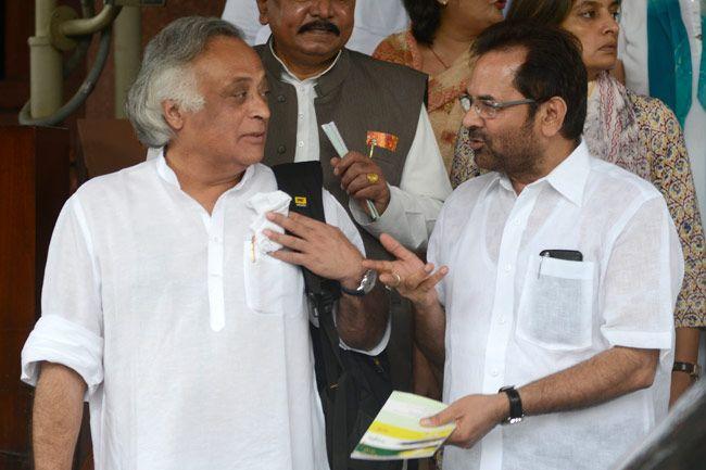 Jairam Ramesh and Mukhtar Abbas Naqvi