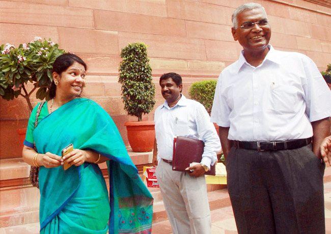 Kanimozhi and D Raja