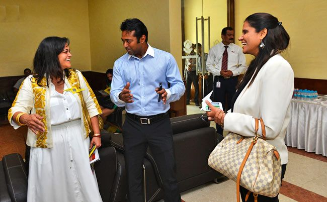 Kalli Purie and Leander Paes
