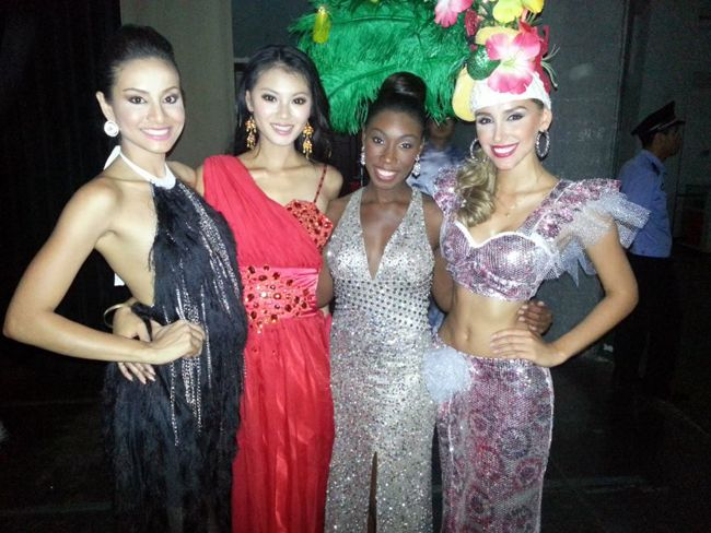 Miss Philippines, Miss Rep of China, Miss U.S. Virgin Islands, and Miss Brazil.