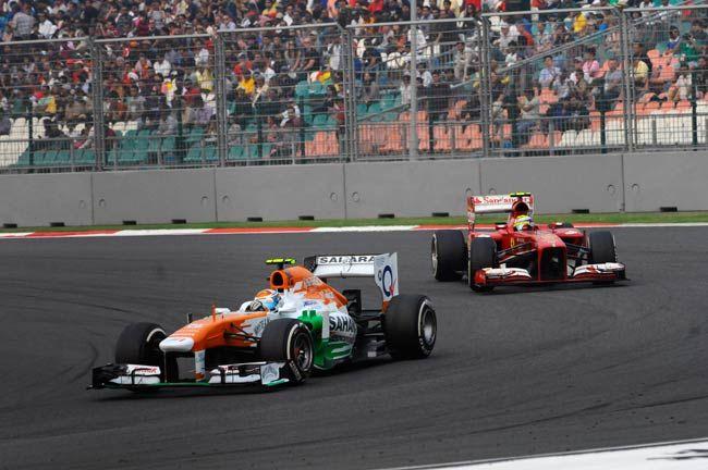 Adrian Sutil and Felipe Massa