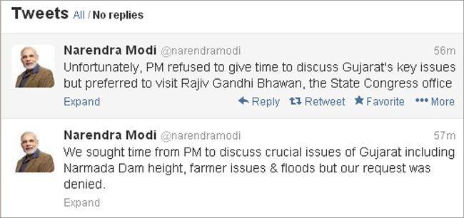 Modi shares dais with PM Manmohan
