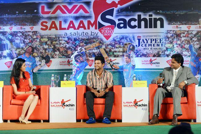 Javagal Srinath with Suresh Raina