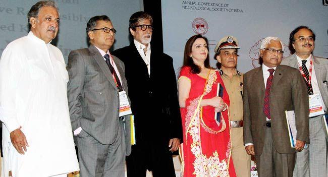 Amitabh Bachchan, Nita Ambani, Head Injury and Road Traffic Accident, Neurology Society of India, NSI, Big B