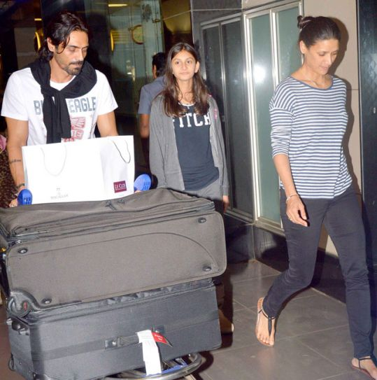arjun rampal and mehr rampal