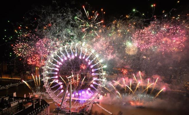 New Year celebrations, London