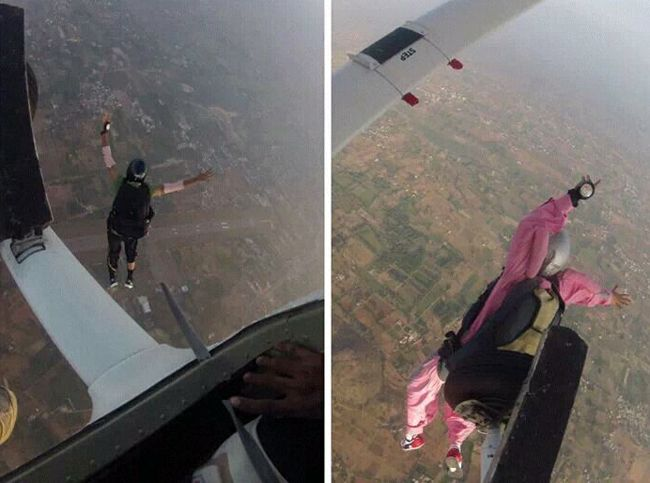 A 26-year-old woman from Bangalore died after a parachute failed to open fully. She was practising sky-diving in Salem.