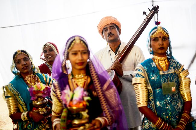 Artists from Rajasthan.