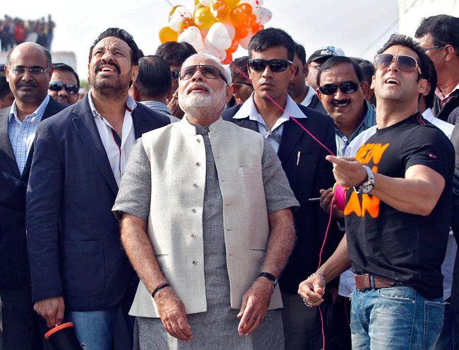 Narendra Modi, Salman Khan, Uttarayan, Ahmedabad kite festival