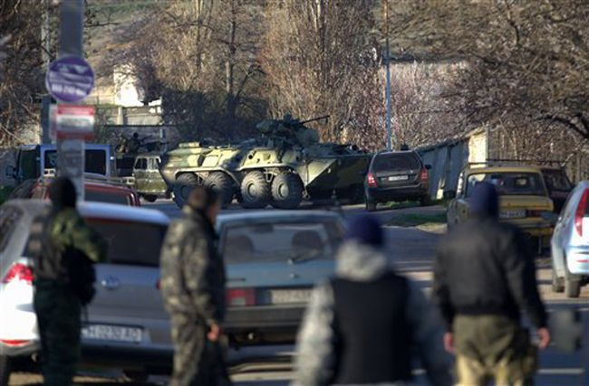 Russian forces take over Ukrainian air base